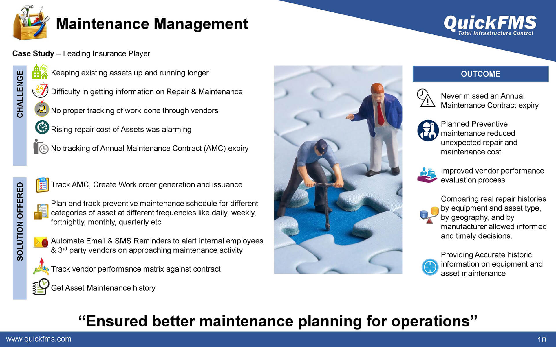 Overview presentation on Maintenance Management - QuickFMS