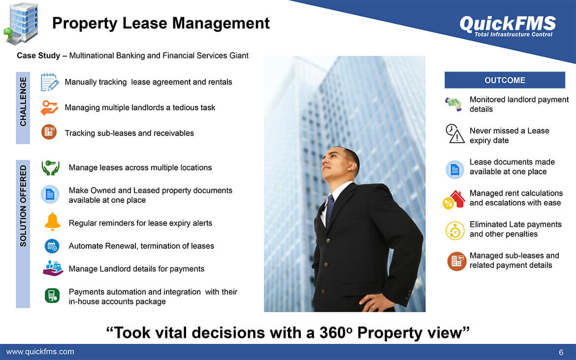 Overview presentation on Property Lease Management - QuickFMS