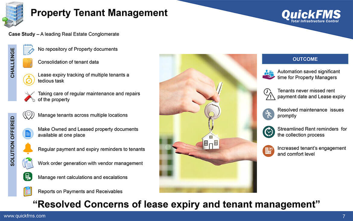 Overview presentation on Property Tenant Management - QuickFMS