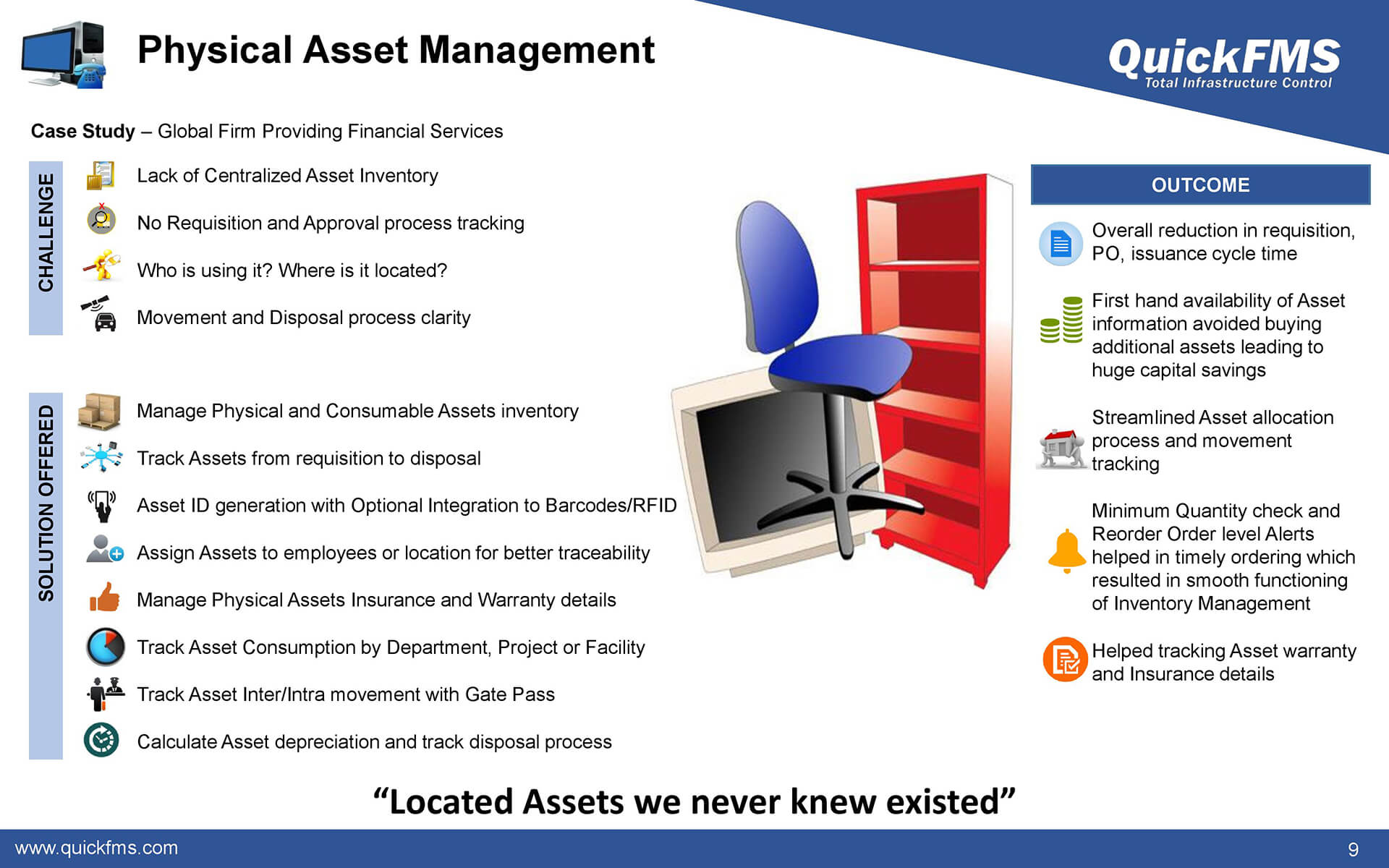 Overview presentation on Physical Asset Management - QuickFMS