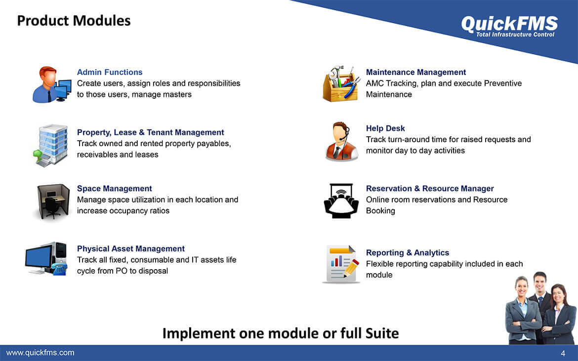 Facility Management Software And Products Overview Quickfms